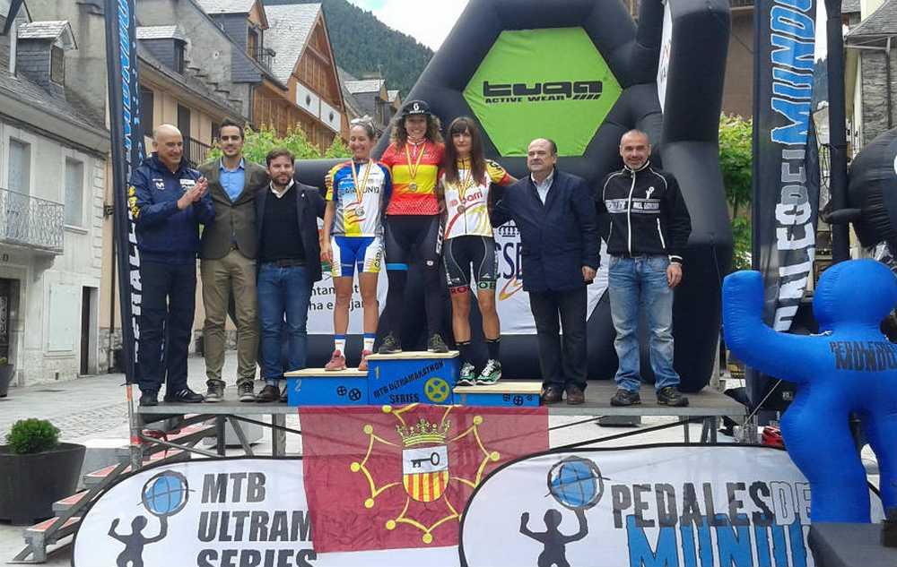 Podio Elite femenino campeonato de España de ultramaratón 2016