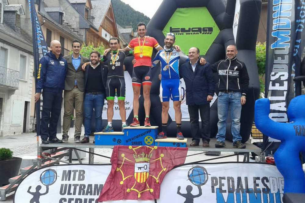 Podio Elite masculino campeonato de España de ultramaratón 2016