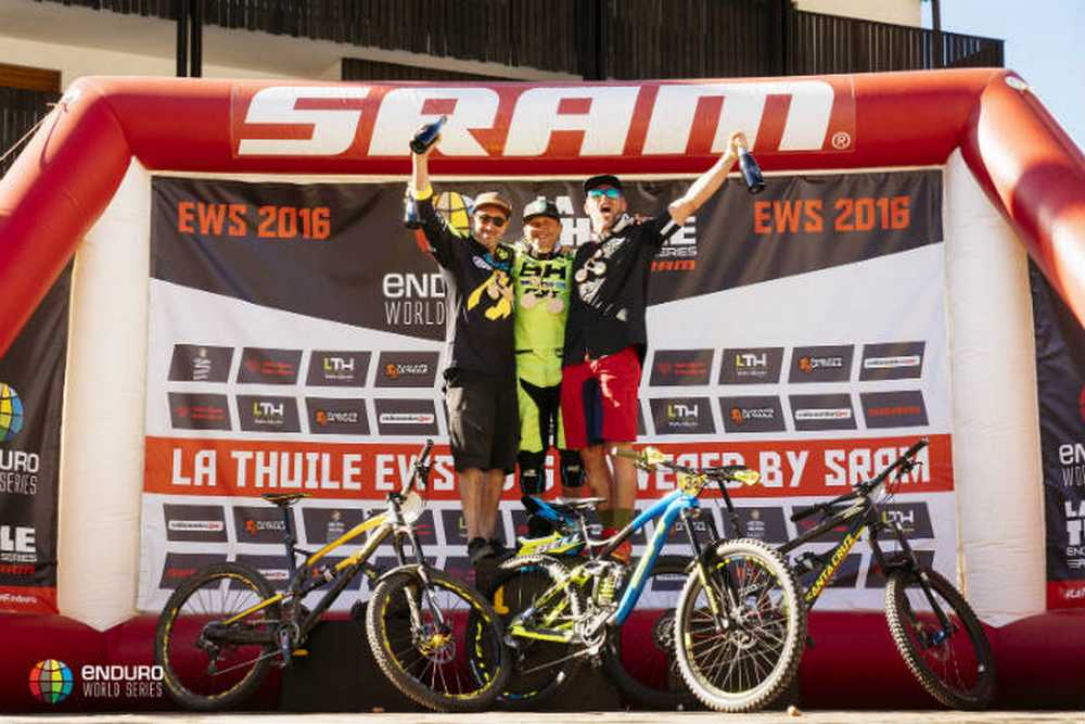 Podio Master 30 Enduro World Series de La Thuile 2016