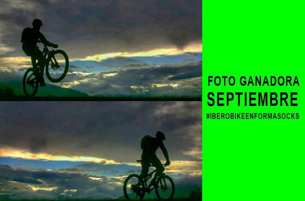 Foto del día ganadora del mes de Septiembre #IberobikeEnformasocks