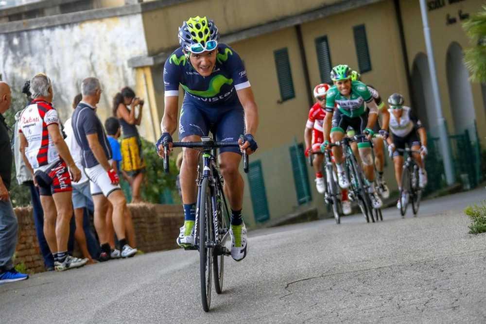 Giro della Toscana 2016 - Memorial Alfredo Martini - 2a tappa Montecatini Terme - Pontedera 185,3 km - 21/09/2016 - Richard Caracas (Movistar) - foto Luca Bettini/BettiniPhoto©2016