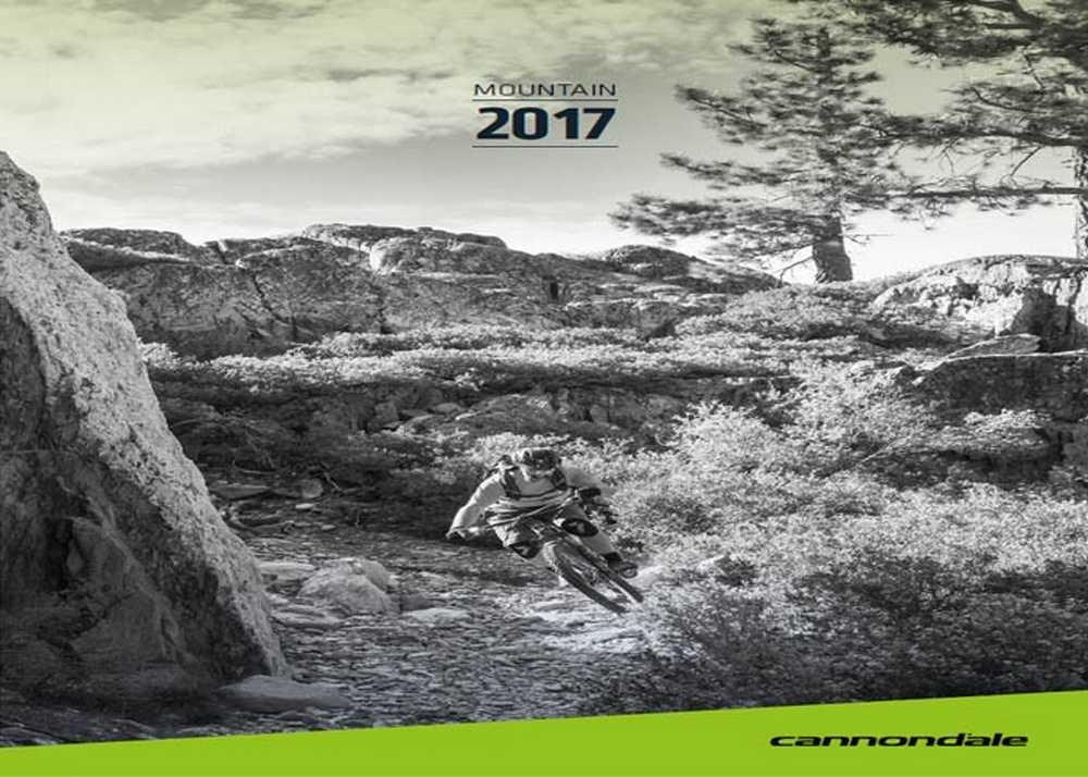 Catálogo bicicletas Canondale mtb 2017
