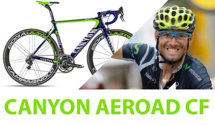 la bicicleta de alejandro valverde,. Canyon aeroad cf movistar team