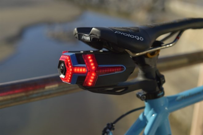 luz trasera cámara bicicleta