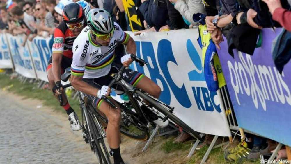 Vídeo Peter Sagan da su versión de la caída en el Tour de Flandes