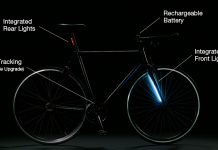 bicicleta con luces y gps antirrobo integrado
