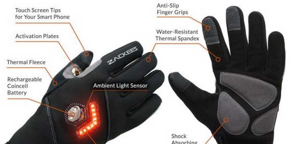 guantes para señalizar el giro del ciclista