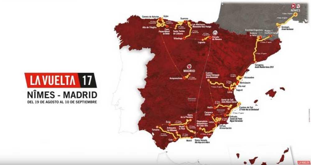 recorrido de la vuelta ciclista a españa 2017