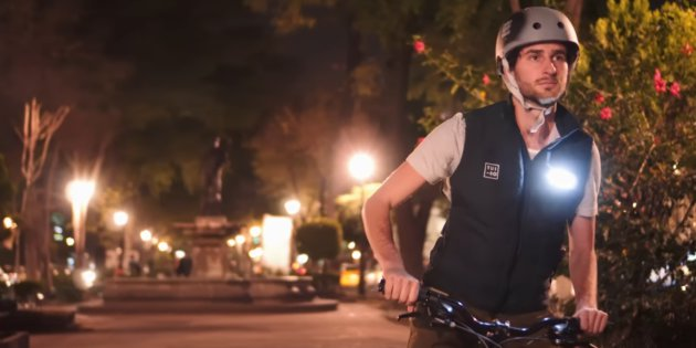 tuibo chaleco iluminado para ciclistas urbanos