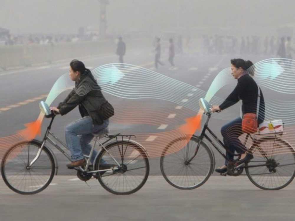 la bicicleta que purifica el aire