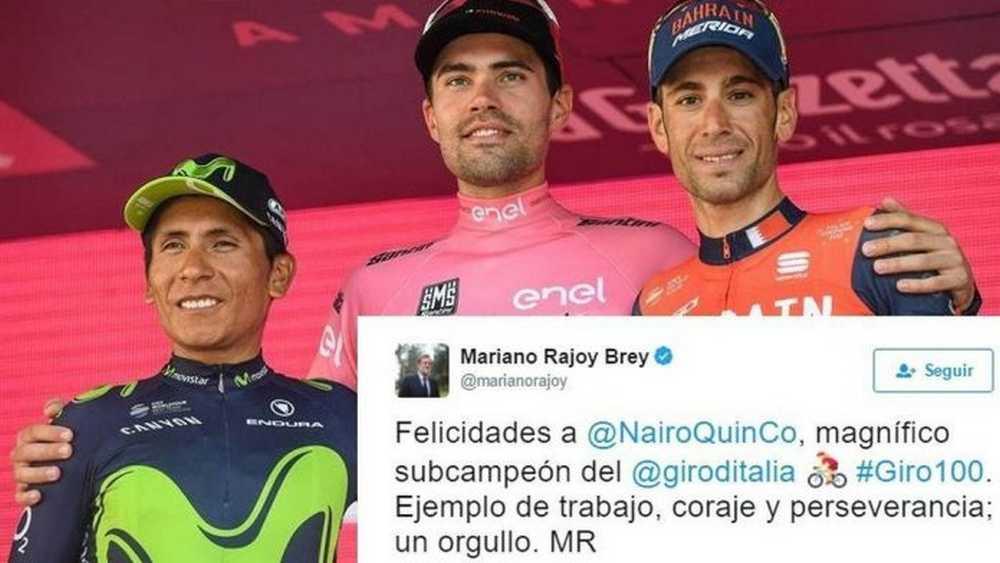 Nairo Quintana y Mariano Rajoy