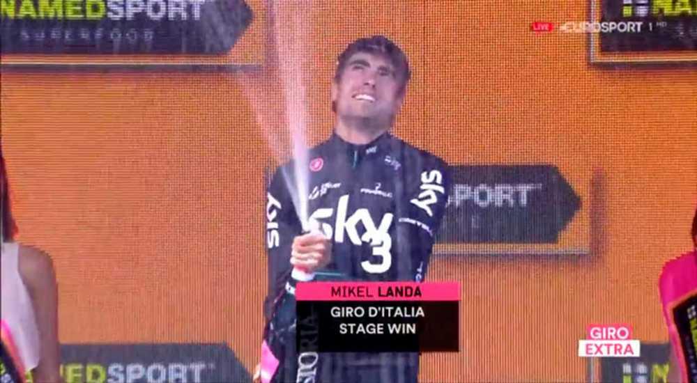 vence mikel landa en el giro de italia en la etapa 19