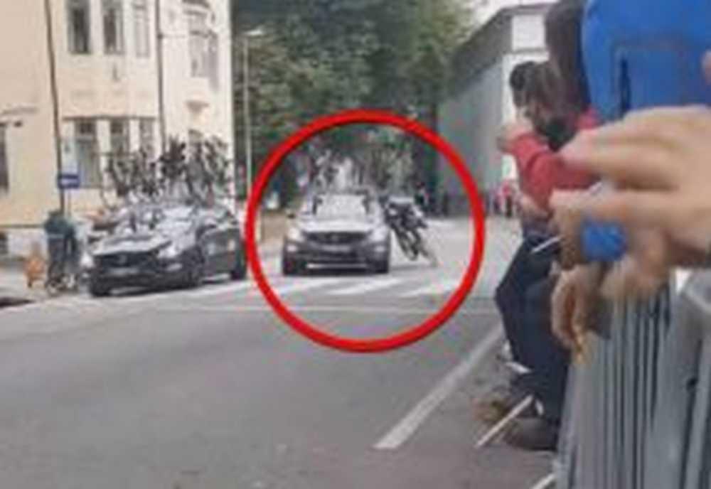 Vídeo Un coche tira a Joni Kanervaen el Mundial Sub23 de Bergen