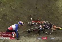 Vídeo Pauline Ferrand-Prévot y Jolanda Neff cochan y caen al suelo en la Copa del Mundo de Hoogerheide