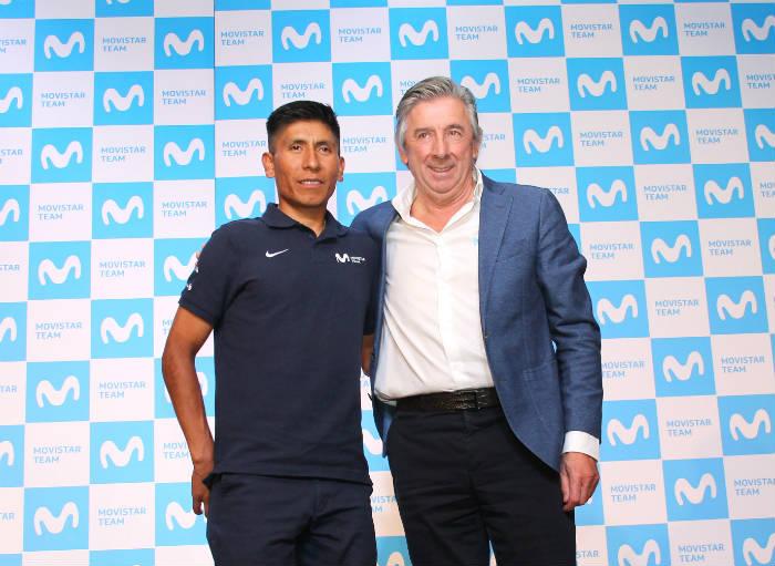 Nairo Quintana y Eusebio Unzué rueda de prensa