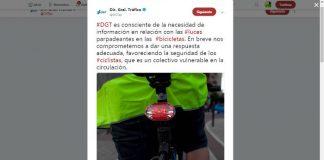 Respuesta de la DGT al uso de luces traseras con destellos por los ciclistas