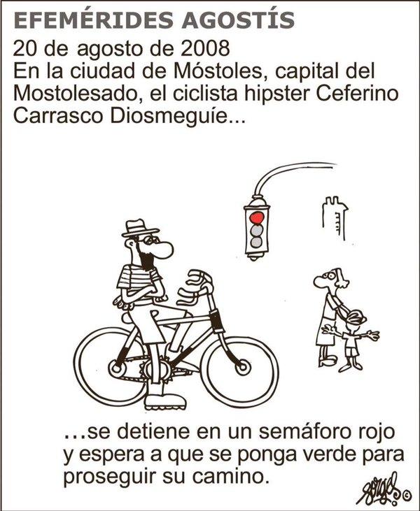 dibujo de forges sobre los ciclistas hipster