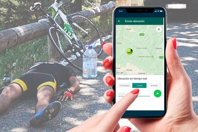 utilizar whatsapp para seguridad del ciclista