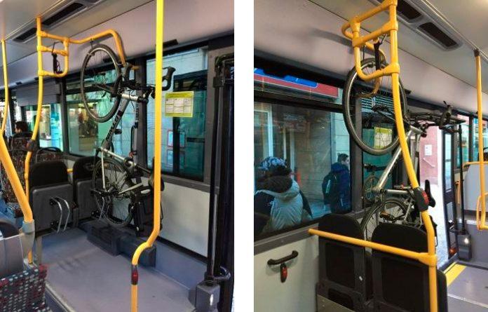 llevar bicicletas en el autbús