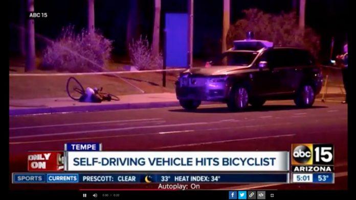 coche autónomo atropella a ciclista