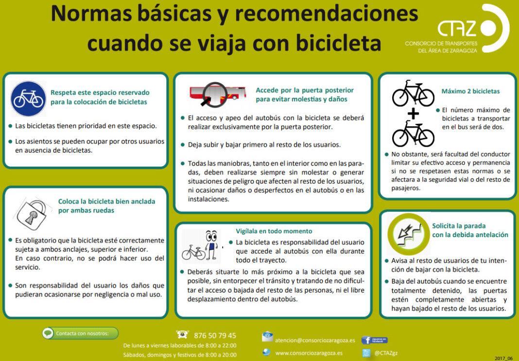 normativa para poder viajar con las bicicletas en el autobús