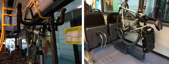 llevar bicicletas dentro del autbús
