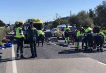 Conductora drogada atropella en Mallorca a nueve ciclistas, dos de ellos en estado grave