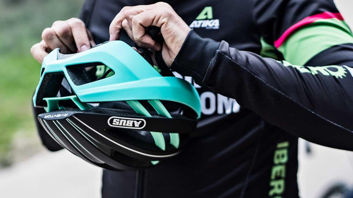 ABUS Race Helmets Aventor Movistar Team S//M//L