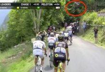 Vídeo Alexis Bosson salta sobre el pelotón del Tour de Francia 2018