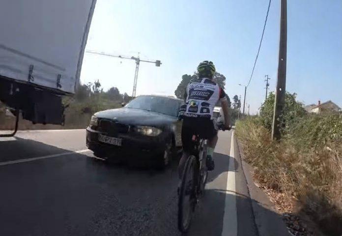 A algunos conductores portugueses tambien cuesta respetar el #1m50