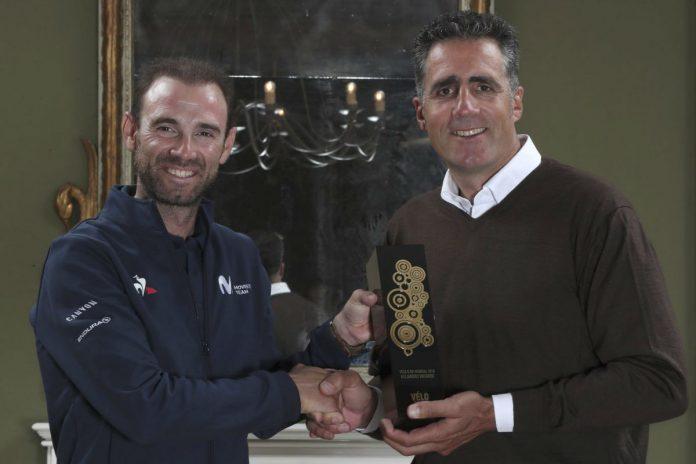 Alejandro Valverde recibe el Vélo d'Or 2018