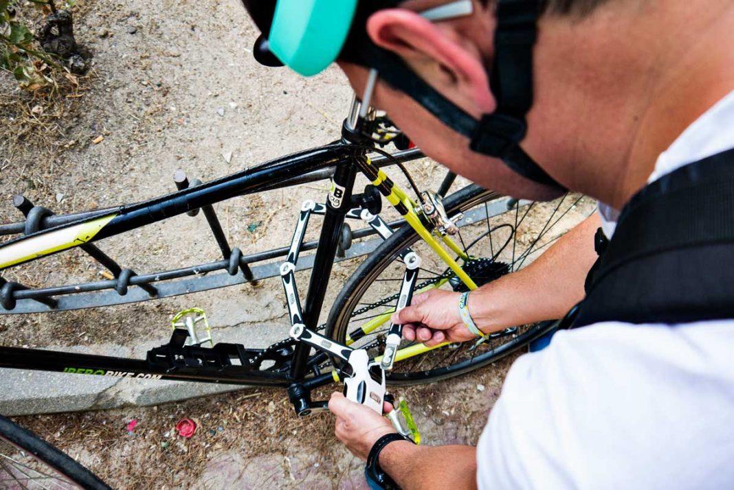 candado abus para bicicletas con alarma