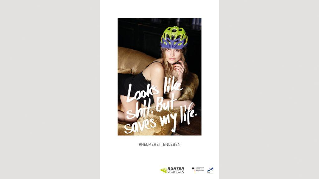 campaña publicitaria gobierno de alemania sobre el uso del casco