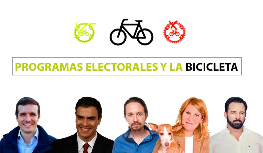 elecciones generales 2019 y el uso de la bicicleta en los programas electorales