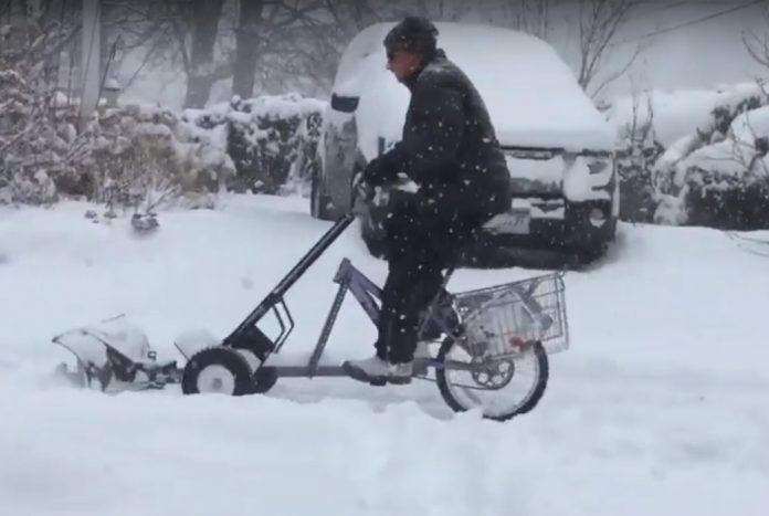 inventa la bicicleta quitanieve