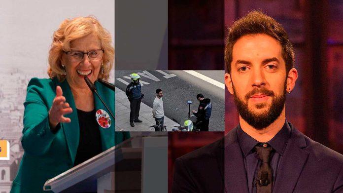 Manuela Carmena se mofa de la multa de David Broncano por circular de forma indebida con una bicicleta
