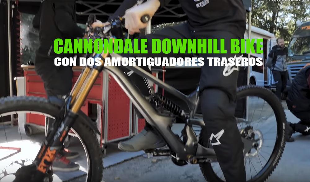 Nueva bicicleta Cannondale de Descenso con dos amortiguadores traseros para 2020