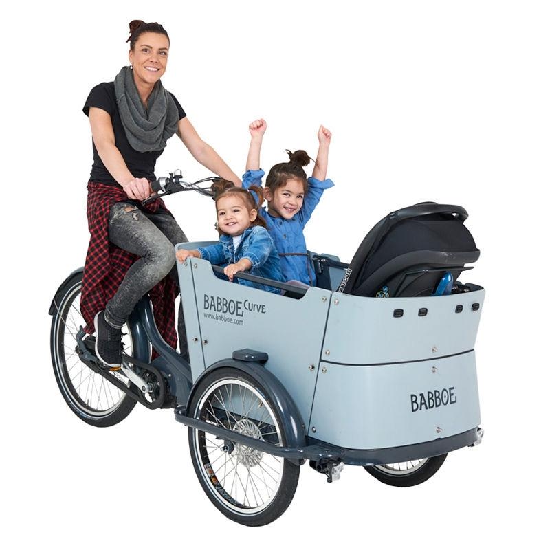 bicicleta de carga familiar babboe