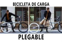 bicicleta de carga plegable