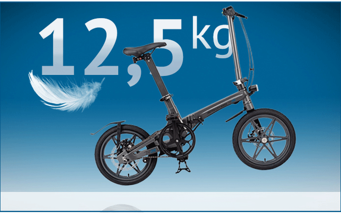 la bicicleta eléctrica plegable mas ligera del mundo