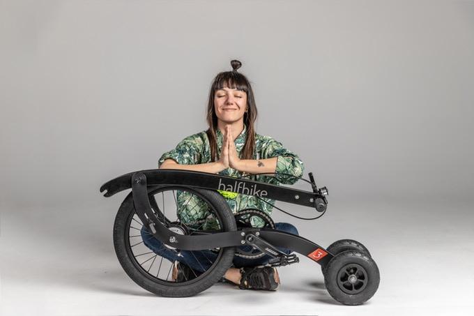 halfbike una bicicleta muy loca