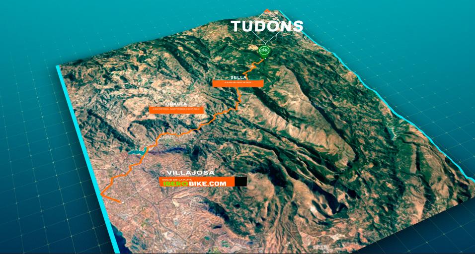 ruta en bicicleta desde villajoyosa hasta el puerto de tudons