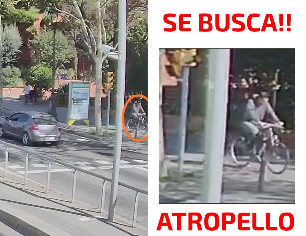 La Guardia Urbana de Barcelona ha publicado una nueva foto del ciclista que atropelló con su bici el pasado fin de semana a una anciana y a un bebé que esta llevaba en brazos.