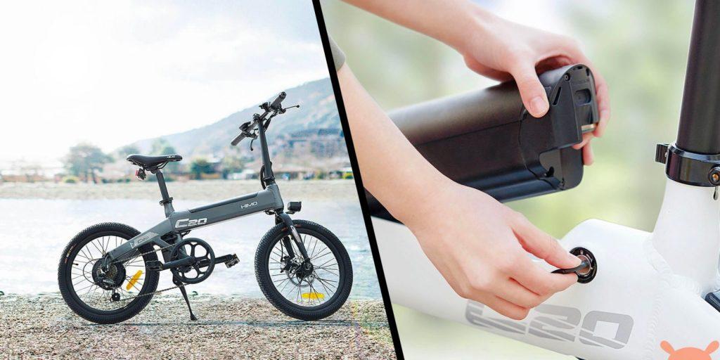 baterias de la bicicleta xiaomi himo c20