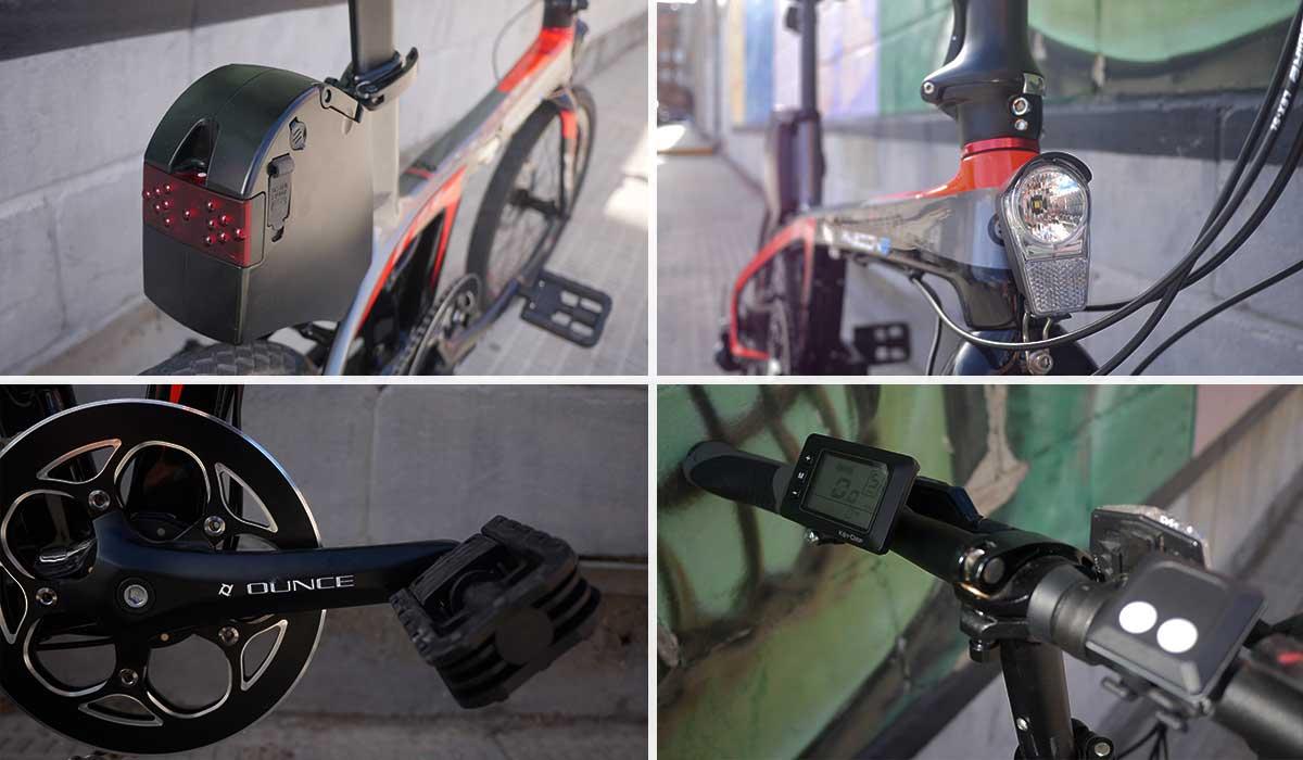 sistema electrico Bicicleta eléctrica Plegable de carbono Ebroh Pasione