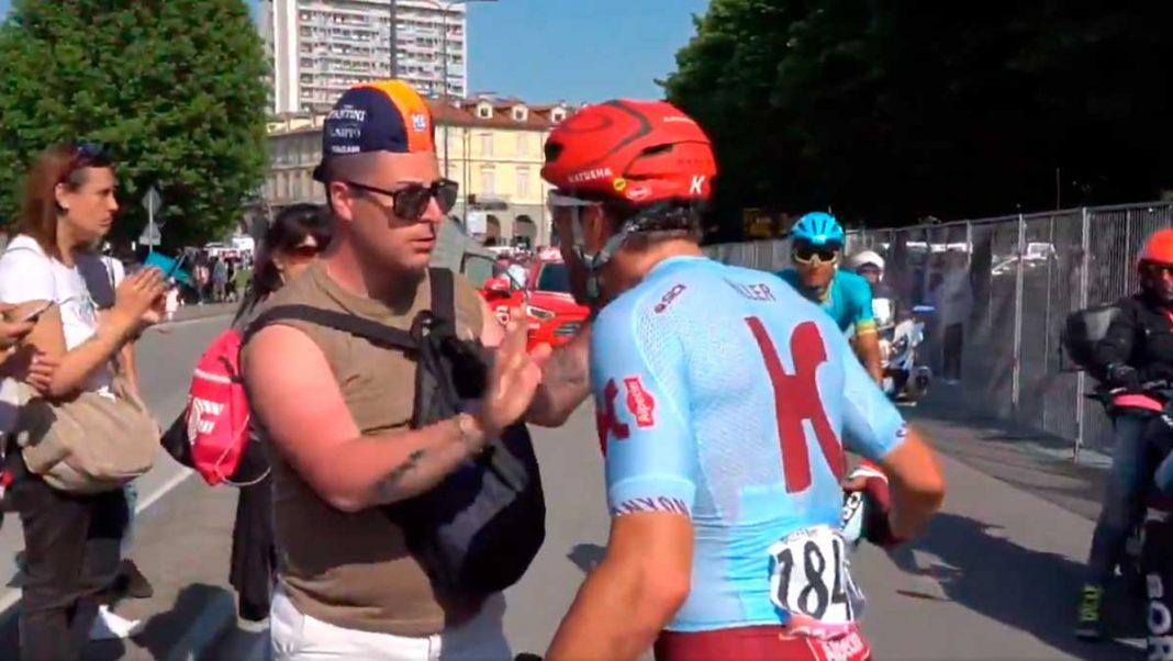 Marco Haller se encara con un aficionado