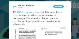 La DGT emite un comunicado para aclarar la normativa sobre Matriculación, ITV y Carnet de las bicicletas eléctricas
