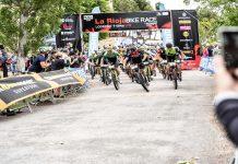 Salida Elite Masculino la rioja bike race 2019 moto carlos coloma vlad dascalu