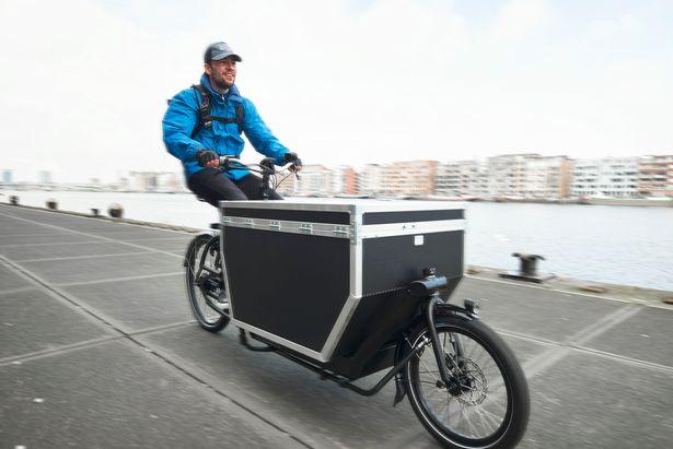 bicicleta de carga transporte ecologico barato paqueteria ciudad bici bike cargo