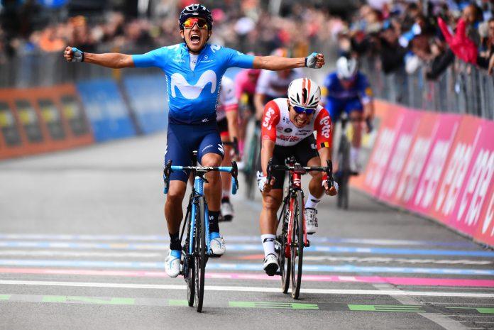 Richad Carapaz gana la cuarta etapa del giro de italia